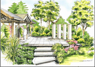首页 景观园林设计培训 室内园林景观手绘表现培训班图片